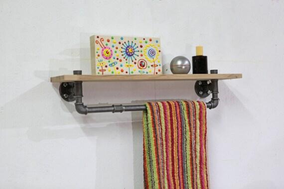 Industriedesign handtuchhalter regal badezimmer stahl for Badezimmer industriedesign