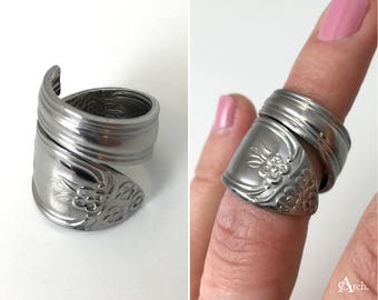 Handcrafted Upcycled Spoon Ring - Approx. Size 5.5