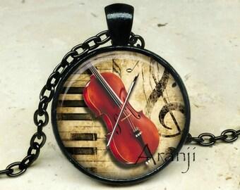 Cello art pendant, cello necklace, cello pendant, cello jewelry, music pendant, music necklace, music jewelry, orchestra, Pendant#HG137BK