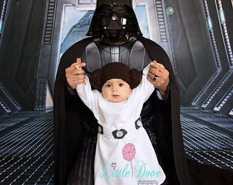 Star Wars Princess Leia inspired hat, Newborn Photo Prop, Baby Shower Gift, Costume, Princess Leia Hat, Star Wars, Newborn Hat