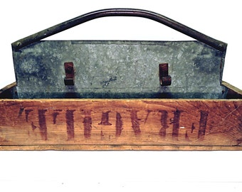Garden Tool Carrier Vintage Cottage Gardening Tool Box Compartmented Box Handled Storage Tote