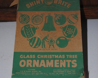 Vintage Shiny Brite Glass Christmas Ornaments
