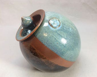 1970s Pottery Cookie Jar Signed RR