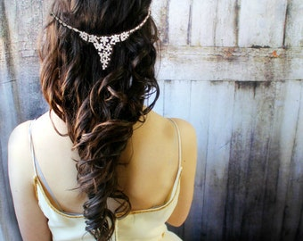Bridal gold Hair Accessories, Wedding Gold Headband, Bridal Headpiece, Gold Headpiece, Weddings, Hair Jewelry, Hair Accessories