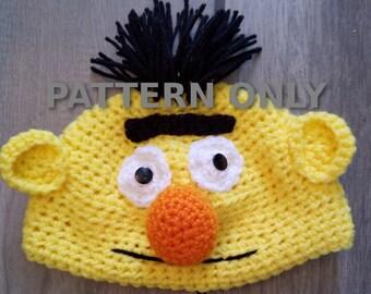 PDF Crochet Bert Hat Pattern