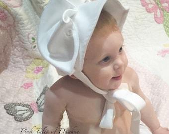 Monogrammed Baby Bonnet, Baby Bonnet, Baby Sun Bonnet, Sunbonnet, Cotton Bonnet, Easter bonnet