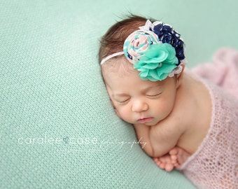 Newborn Photography Fabric Backdrop -  Thick Harmony Knit Backdrop - Mint - Newborn Backdrop Posing Fabric