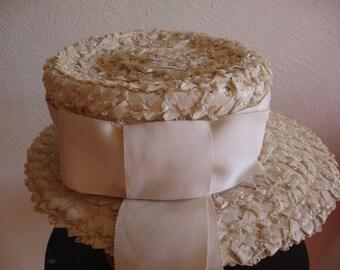 White Straw Vintage Valerie Hat
