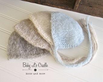 Baby Bonnet - Newborn Baby Hat, Brushed - Classic | Newborn Photography Prop