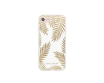 iPhone 7 case golden leaves