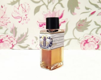 "Natural Perfume oil, Honey comb, Rose Fragrance ""the Rose Bee"" Botanical Perfume, Hay, Clover, cruelty free"