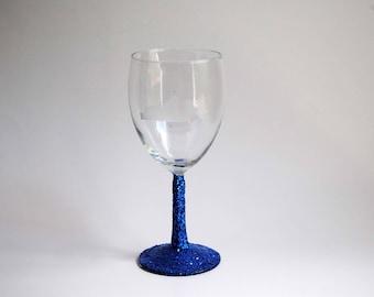 Etched Kentucky Glitter Wine Glass