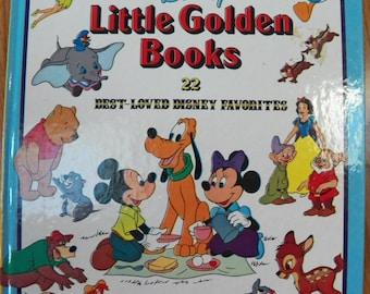 Vintage 1978 A Treasury of DISNEY Little Golden Books Hardback~22 Best Loved VG+