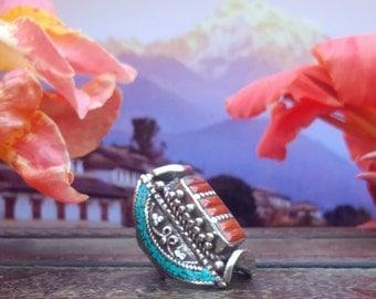 Nomadic Tibetan Saddle Ring