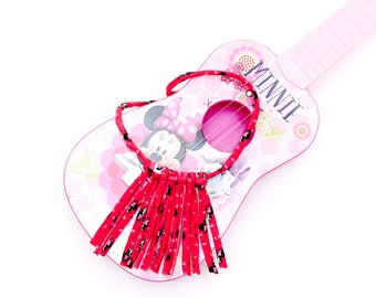 Toddler necklace cotton knit tassel girl baby Minnie Mouse disney