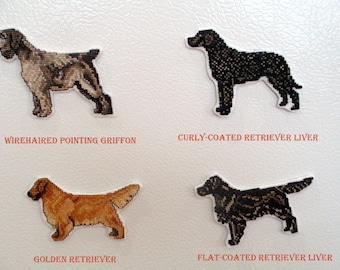 Counted Cross Stitch Sporting Dog Group Magnets #4