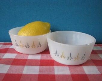 Fire King Candleglow Custard Cups - Ramekins - Atomic Design - Set of 2 -  Vintage 1960's