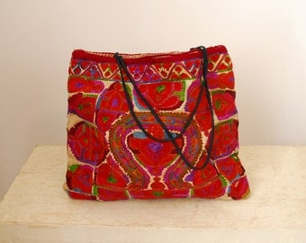 Colorful Embroidered Bag - 1970s