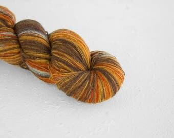 Artistic wool, laceweight art wool rustic colors, Longstriped artistic wool. Aade Long -  Grey-Orange