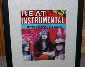 Emerson Lake & Palmer Professionally Framed Original Beat Instrumental Magazine 1971 Keith Emerson Greg Lake Carl Palmer ELP