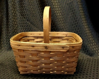 Vintage 1980 Signed KEL Longaberger Basket with Handle