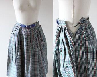 1950s circle skirt // plaid circle skirt // vintage skirt