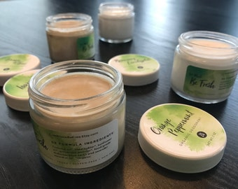 1 OZ: 4-Pack Organic Deodorant - Customizable (1 ounce jars)