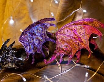 Medium Dragon Wing Hair Clips