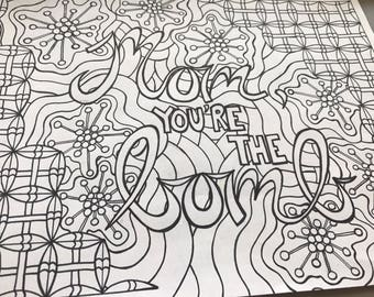 mothers day coloring page mothers day card coloring page mom coloring page