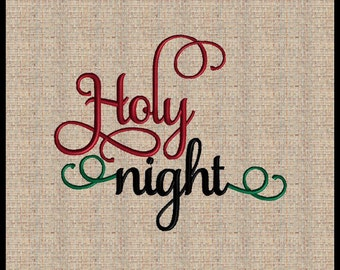 Holy night Machine Embroidery Design Oh Holy Night Christmas Embroidery Design Bible Scripture Embroidery Design Bible Verse Design