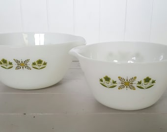 Fire King Mixing Bowls set of 2