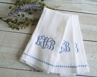 Monogram Burp Cloth - Set of 3