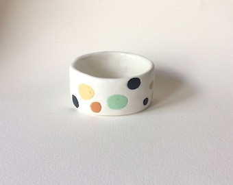 Speckled egg bangle