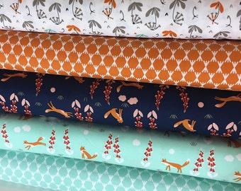 Foxglove Collection - Cloud 9 Fabrics Organic Cotton - Fabric Bundle - 5 prints