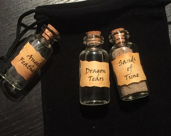 CW Supernatural Sands of Time, Dragon Tears, Angel Feathers - Vial Collectable Gift Vial Set