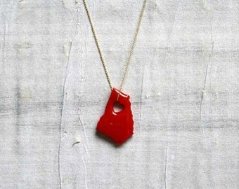 Limited Edition States of Love colored Resin GEORGIA NECKLACE