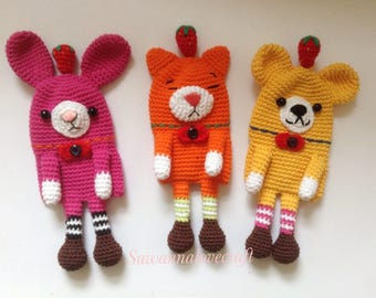 Friends key cover crochet pattern