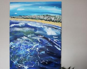 Manhattan Beach California original painting and Giclee art print
