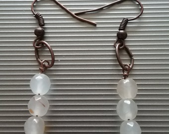 White And Red Beaded Earrings 9