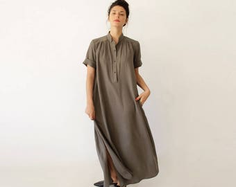Oversized Dress, Maxi Dress, Loose Dress, Party Dress for Plus Size Women, Oversized Kaftan Dress, Short Sleeve Dress, Plus Size Dress