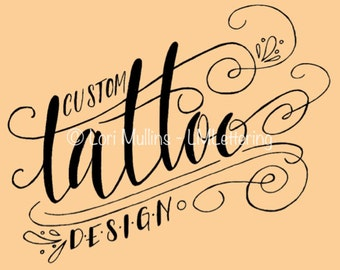 Custom Tattoo Lettering - Tattoo Design
