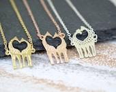 Giraffe Necklace Rose Gold Necklace Animal Jewellery Wildlife Jewellery Animal Lover Jewellery Safari Necklace Giraffe Jewelry