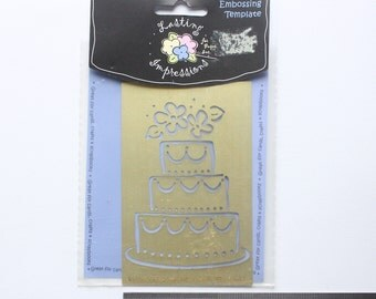 Destash Item - *Never Used* Lastin Impressions Wedding Cake Brass Embossing Stencil For Cardmaking Scrapbooking Wedding