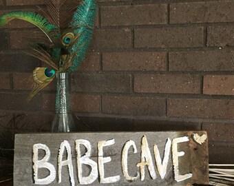 Wall sign babe cave sign babe cave wall sign