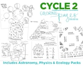 Science Coloring Pages | Classical Conversations Cycle 2