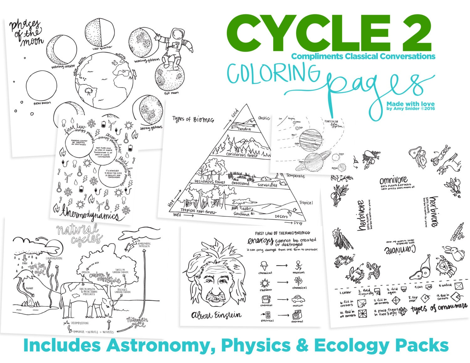 science coloring pages classical conversations cycle 2