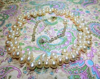 Necklace Kit SALE White Peanut Pearls