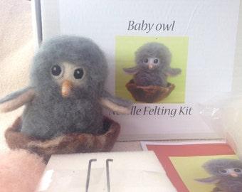 Needlefelting kit, Baby owl.