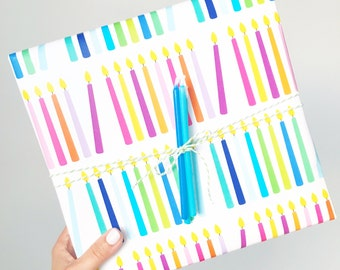 Hannukah / Birthday Candle Wrap - 2 sheets