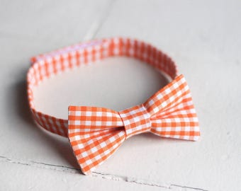 Boys Orange Bow Tie -  Toddler Orange Bow Tie, Orange Baby Bow Tie, Orange Boys Bow Tie, Orange Toddler Bow Tie Orange Toddler Boys Bow Tie